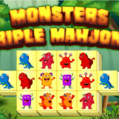 Monster Triple Mahjong – Çin Dominosu Üçlü Canavar